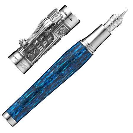 モンテグラッパ 万年筆 特別生産品 モーセの十戒 限定モデル ブルー03