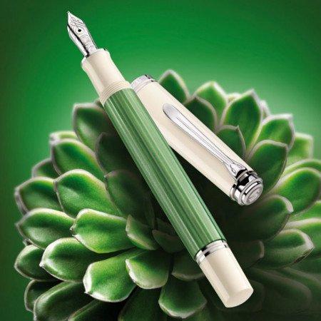 ペリカン 万年筆 スーベレーン605 グリーンホワイト 特別生産品メインイメージ