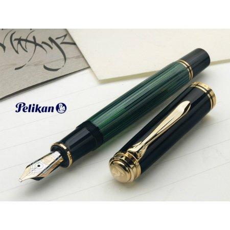 ペリカン 万年筆 特別生産品 スーベレーンM800 イタリック・ライティング M800 緑縞 グリーン02