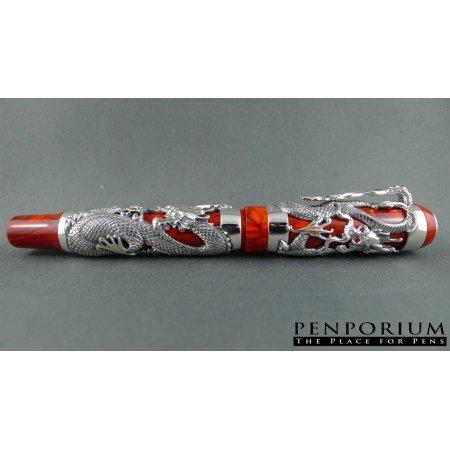 モンテグラッパ 万年筆 限定品 ドラゴン ブルース リー スターリングシルバー04