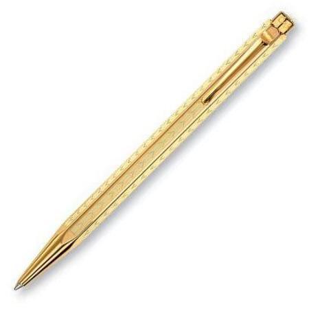 カランダッシュ ボールペン エクリドール コレクション YN0898-208 シェブロン ゴールドプレートメインイメージ