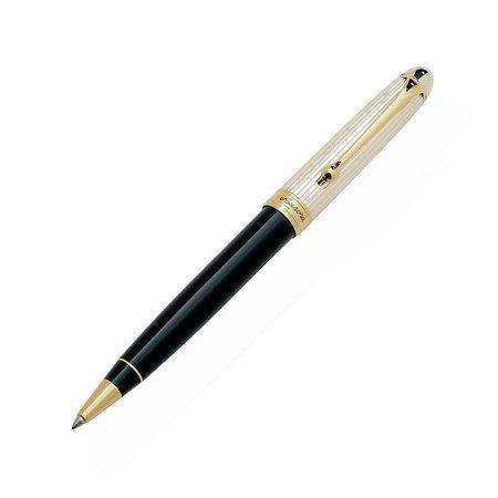 アウロラ ボールペン 88 No.836 スターリングシルバーキャップ ブラックバレルメインイメージ
