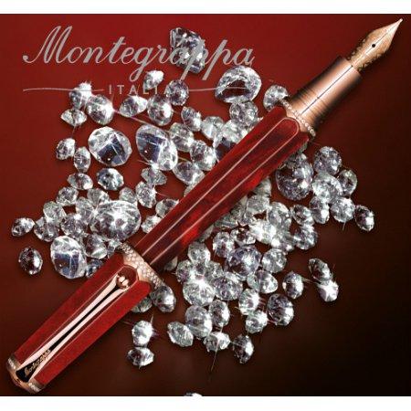 モンテグラッパ ローラーボール 特別生産品 ピッコラ ダイヤモンド レッド03