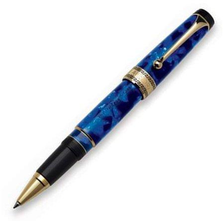 アウロラ ローラーボール オプティマ No.975_BA ゴールド×ブルー02