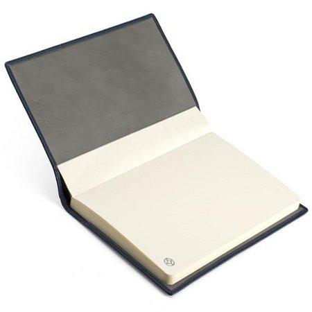 モンテグラッパ ノートブック カーフレザー ブルー A6007BJ03