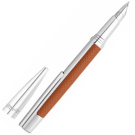 デュポン 万年筆 デフィ ペンコレクション パンチング レザー キャメル 40067603