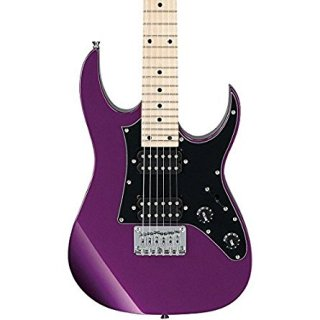 Ibanez GRGM21MMPL Mikro 3/4 Size Electric Guitar - Metallic Purple Finishギター
