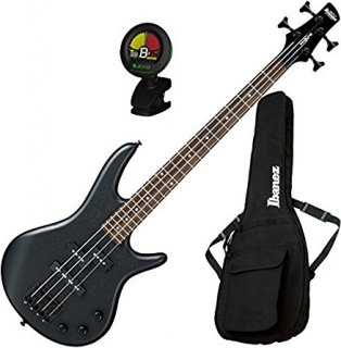 Ibanez GSRM20BWK GIO 4-String Mikro Electric Bass Weathered Black with Gig Bag and Tギター