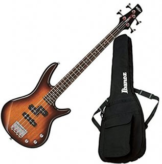 Ibanez GSRM20BS Mikro 4 String Brown Sunburst Bass with Gig Bagギター