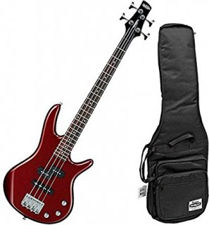 Ibanez Mikro GSRM20 Short Scale 4 String Root Beer Metallic Bass with Gig Bagギター