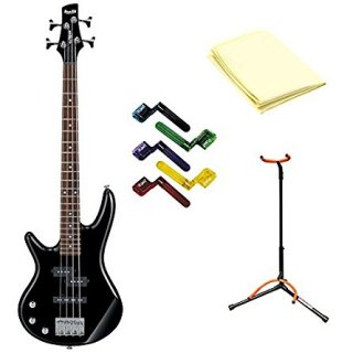 Ibanez GSRM20BK Left Handed Micro GSR Series Electric Bass with Black Finish With Poギター