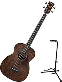 Ibanez PCBE12MH Acoustic Bass (Open Pore Natural) with Standギター