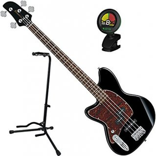 Ibanez TMB100LBK Left Handed 4 String Black Electric Bass Guitar w/ Tuner and Standギター