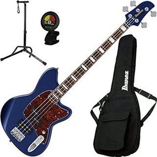 Ibanez TMB300NM Talman 4 String Navy Metallic Electric Bass w/ Gig Bag, Stand, and Tギター