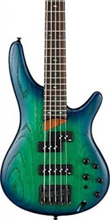 Ibanez SR655 5-String Electric Bass Guitar Surreal Blue Burstギター