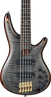 Ibanez Premium SR1405E 5-String Electric Bass Guitar Transparent Gray Blackギター