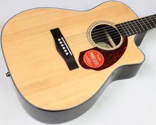 Fender CC-140SCE Concert Acoustic-Electric Guitar w/HSC, Natural, NEW! #39886 ギター