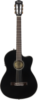 Fender CN-140SCE Acoustic Electric Guitar - Black ギター
