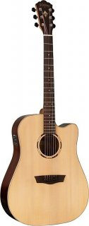 Washburn WLD20SCE Woodline - Dreadnought Solid Spruce Acoustic Electric Guitar ギター