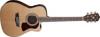 Open Box - Washburn HF11SCE-O Heritage Series Folk Cutaway electric Solid Cedar top ギター