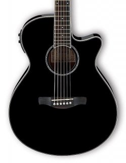 Ibanez AEG10II Acoustic-Electric Guitar Black ギター