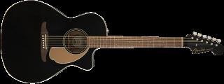 Fender Newporter Player, Walnut Fingerboard, Jetty Black 885978901272 ギター
