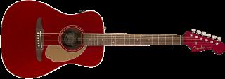 Fender Malibu Player, Walnut Fingerboard, Candy Apple Red 885978901326 ギター