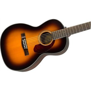 Cool! Fender CP-140SE Parlor A/E in 3-Tone Sunburst! Includes Hard Case! Free Shipping! ギター