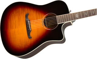 Gorgeous! Fender T-Bucket 300CE Flame-Maple in 3-Color Sunburst! Free Shipping! ギター