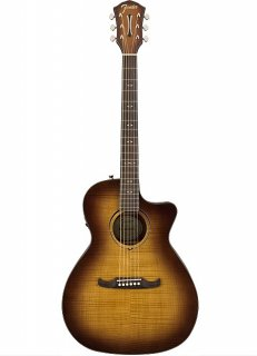 Fender FA-345CE Auditorium Acoustic-Electric Guitar Flame Maple 3-Tone Tea Burst ギター