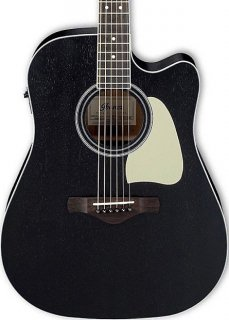 Ibanez  AW360CE Acoustic-Electric Cutaway Weathered Black Open Pore ギター