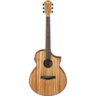 Ibanez AEW40ZW 6 string Acoustic electric Guitar with Zebrawood Top, Zebrawood Back Sides ギター
