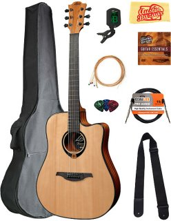 Lag T80DCE Tramontane Dreadnought Cutaway Acoustic-Electric Guitar w/ Gig Bag ギター