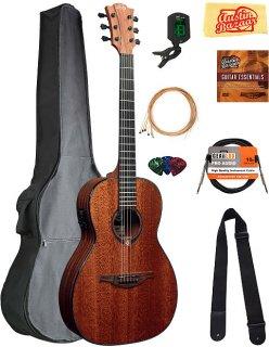 Lag T90PE Tramontane Parlor Acoustic-Electric Guitar w/ Gig Bag ギター