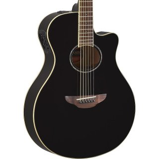 Yamaha Thinline APX600 Acoustic - Black ギター