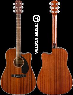 Fender  CD-60SCE All Mahogany Natural - 0961705021 ギター