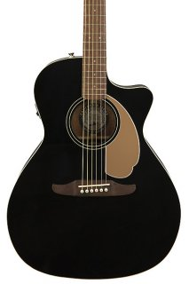 Fender Newporter Player Acoustic Electric Guitar - Jetty Black ギター