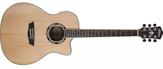 Washburn Apprentice AG70CEK-A Spruce Walnut with Barcus Berry EQ with case ギター