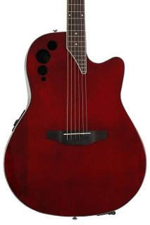 Ovation Applause AE44II Elite, Mid-depth bowl - Ruby Red ギター