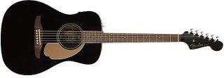 Fender Malibu Player Electric Acoustic Guitar in Jetty Black with Walnut Fretboard ギター