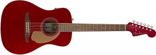 Fender Malibu Player Solid Spruce Top Mahogany Back and Sides in Candy Apple Red ギター