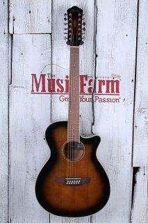 Ibanez AEG1812II DVS 12 String Cutaway Acoustic Electric Guitar Violin Sunburst ギター