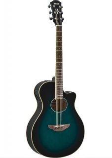 Yamaha APX600 OBB Thin Body Acoustic-Electric Guitar, Oriental Blue Burst ギター