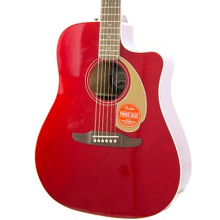 Brand New Fender Redondo Player Candy Apple Red Acoustic Electric Guitar ギター