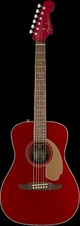 Fender Malibu Player Model Electric Acoustic Guitar in Candy Apple Red - SO COOL ギター