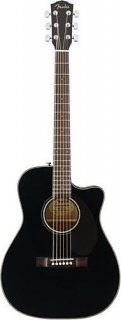 Fender CC-60SCE-BK Acoustic Electric Solid Top Concert Size Guitar Gloss Black ギター