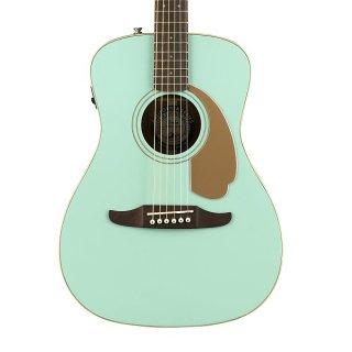 Retro! Fender Malibu Player Acoustic/Electric in Aqua Splash! Free Shipping! ギター