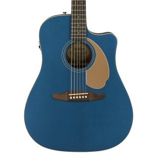 Fancy! Fender Redondo Player Acoustic-Electric in Belmont Blue! Free Shipping! ギター