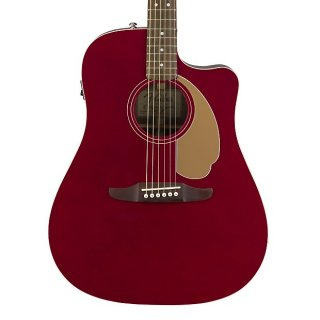 Fancy! Fender Redondo Player Acoustic/Electric for Candy Apple Red! Free Shipping! ギター