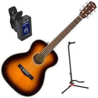 Fender CT-140SE Sunburst Solid Top Acoustic-Electric Guitar Bundle ギター
